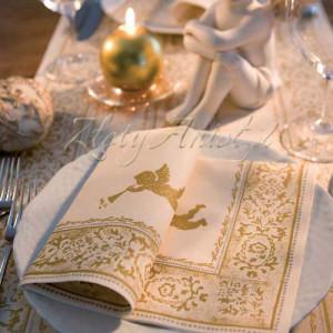 serwetki komunijne złoty anioł