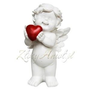 ZlotyAniol_figurka anioł z sercem aniołek dekoracja stołu pierwsza komunia święta chrzest