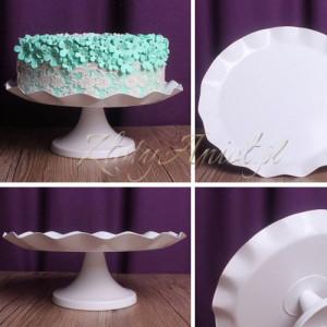 patera na ciasto z falbanką złoty anioł pierwsza komunia