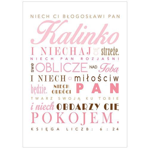 Plakat Komunijny Oryginalna Pamiątka Dla Dziecka