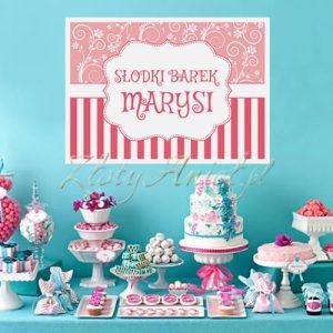 PLAKAT dekoracyjny do słodkiego bufetu