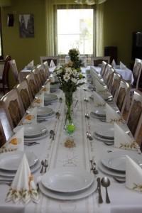 dekoracja stołu komunijnego Kubas 2