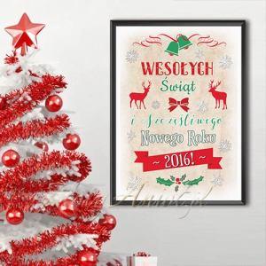 plakat dekoracyjny święta bożego narodzenia 2