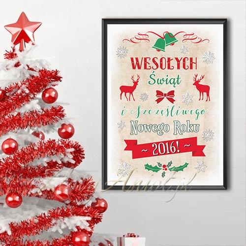 Plakat świąteczna Dekoracja Domu Dekoracje Komunijne