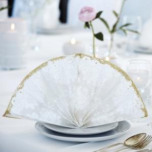 SERWETKI flizelinowe Royal White